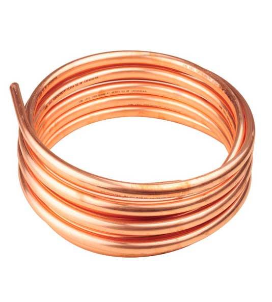 Cooper Tube Coil (J) 1-1/8″ OD (9/8″) x 1.27 mm X 50′, ASTM, B280, ALLOY,  Model: CC-118